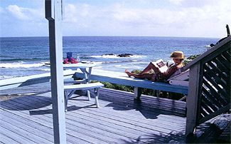 Beachfront villa deck St. John