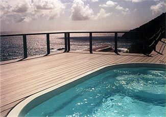 ocean view pool deck of rental villa st john virgin islands
