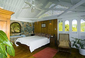 virgin island beach front villa bedroom st. john